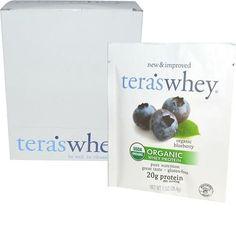 Teras Whey Protein Powder Whey Organic Wild Blueberry 1 oz Case of 12