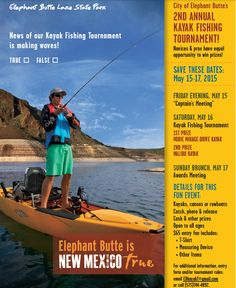 Our annual Kayak Tournament is coming up!  Always a good time, start planning your whole vacation around it!