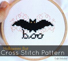 Halloween Cross Stitch Bat Pattern