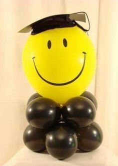 Smiley face graduation tower