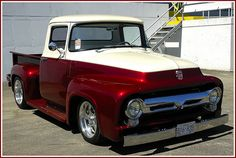 love this one ford 1955 Vintage Pickup Trucks, Classic Ford Trucks, Old Ford Trucks, Classic Cars, 1956 Ford Truck, Car Ford, Ford 56, Hot Rod Trucks, Cool Trucks