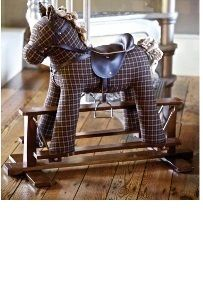 Tennyson Rocking Horse heritage luxury fabric Child Gift Ideas Animals pony equestrian Toys  Buy online at www.jinneyring.co.uk