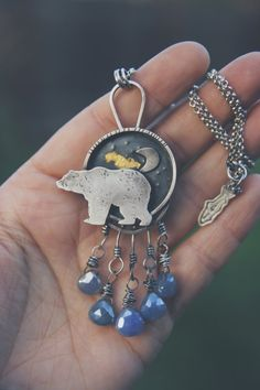 Bear in the Moonlight  Version 3 by jonesingforjewelry on Etsy