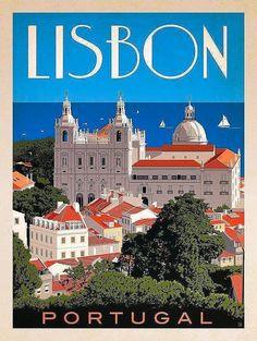 Illustration poster #portugaltravel #TravelEuropeIllustration