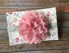 Dusty Pink Headband/Dusty Rose Headband/Dusty Pink Baby/Dusty Rose Baby/Baby Headband/Baby Girl Headband/Infant Headband/Newborn Headband by JuliaGraceDesigns1 on Etsy
