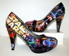 Star Wars Heels - Made To Order with glitter heel