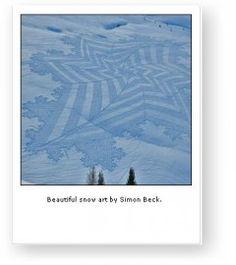 La snow-art di Simon Beck