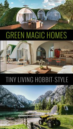 "Modular units can be interconnected creating luxury Hobbit estates. You may plan your future Hole house with confidence! houses underground 14 Cutest Custom and Prefab Hobbit Houses for Tiny Living ""Fairy Tale-Style"" - Craft-Mart Green Magic Homes, Crea Design, Earth Bag Homes, Diy Hanging Shelves, Underground Homes, Earthship, Tiny House Living, Tiny House Design, Green House Design"
