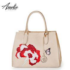 579d4758c3 AMELIE GALANTI 2016 luxury handbags designer women bag Embroidery decal  packages fashion Messenger Bags Saffiano