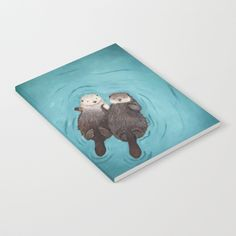 Buy Otterly Romantic - Otters Holding Hands Notebook by whenguineapigsfly. Worldwide shipping available at Society6.com. Just one of millions of high quality products available.