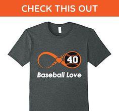 Mens Infinite Baseball Love XL Dark Heather - Sports shirts (*Amazon Partner-Link)