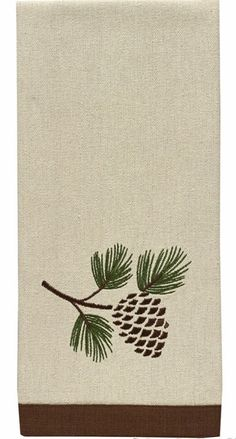 For the kitchen or bath, this Pinecone Embroidered Dishtowel or Hand towel from Park Designs measures 18 x The Country Porch carries over decorative to Pinecone Tattoo, Pine Tattoo, Embroidery Patterns, Hand Embroidery, Machine Embroidery, Rustic Christmas, Christmas Crafts, Mountain Cabin Decor, Wood Burning Patterns