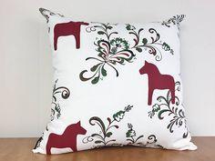 Swedish Dala Horse Kurbits Pillow Cover