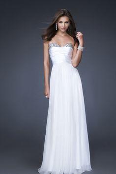 Hot Selling Prom Dresses Floor Length Sweetheart Sheath/Column Chiffon Ruffles