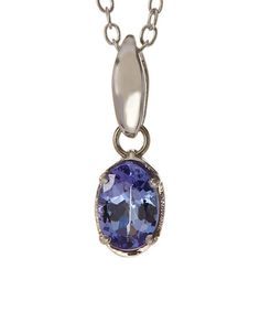 Another great find on #zulily! Tanzanite & Sterling Silver Oval Pendant Necklace #zulilyfinds