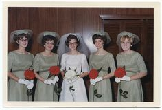 oh my ! | Flickr - Photo Sharing! Looks like the 1960s...those crazy headpieces that never fit properly and had tulle attached...