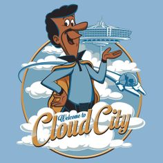 Welcome to Cloud City by djkopet. Welcome to Cloud City by djkopet. Star Wars Love, Star Wars Art, Cloud City, Star Wars Merchandise, The Jetsons, Cinema, Geek Games, The Force Is Strong, Star Wars Tshirt
