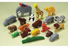 jueguetes madera animales ensamblados
