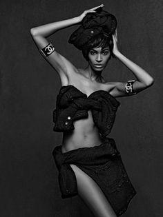 Joan Smalls in Chanel