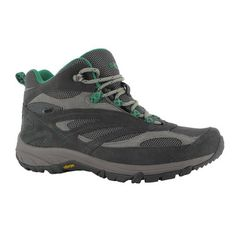 Looking at the options for footwear suitable for mostly sand tracks. Thinking a mid hiking shoe and gaters might be the go?? Time to go try on some shoes   Hi Tec Breathe Mid Waterproof Womens Shoes Charcoal & Emerald   Anaconda