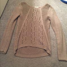 Knit sweater Beige knit sweater Sweaters Crew & Scoop Necks