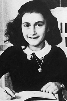 "Anne Frank ""Despite everything, I believe that people are really good at heart"" The young Jewish girl's diary of her experiences while hiding from German forces in the Netherlands was published after her death at the age of 15 in the Bergen-Belsen concentration camp. It became one of the world's most widely read books, and provided a unique, eye-witness account of life during the Holocaust."