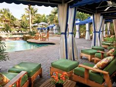 Whether you're on your honeymoon looking for a little alone time or a larger group celebrating an event, relax in one of our numerous poolside cabanas. #luxury #luxuryresorts #destination #luxuryhotels #travel #nobleadventures