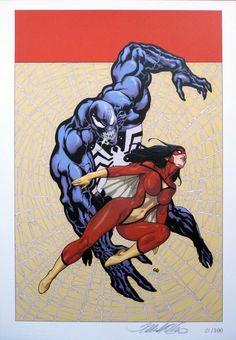 Spider-Woman vs Venom - Frank Cho