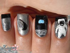 Earthlings in space--now that's astro-awesome! I think my fave is the moon shoe print nail. -Una Verse #NoviStars