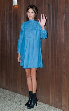 Alexa Chung arrives at Alexa Chung For AG Los Angeles Launch Party on January 22, 2015 in Beverly Hills, California.