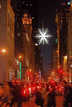 NYC ♥ NYC: Crystal Snowflake at Fifth Avenue and 57th Street #pinparty