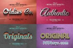 Vintage Text Effects Vol.2 65361