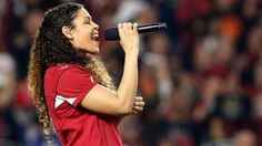 Jordin Sparks and the Star Spangled Banner!!! Don't you love a Cardinals game???