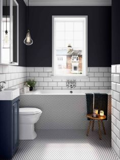 Bathroom Storage Espresso since Bathroom Tiles Kerala Price rather Bathroom Decor Hobby Lobby, Small Bathroom Interior Design Trends 2018 Bathroom Inspo, Bathroom Inspiration, Bathroom Black, Minimal Bathroom, Classic Bathroom, Dyi Bathroom, Black And White Bathroom Ideas, Small Bathroom With Bath, Simple Bathroom