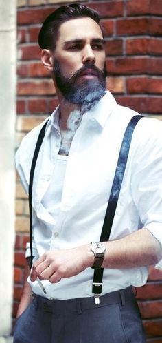 Epic look and wicked beard. Clean cut with an edge. #handsomesauce