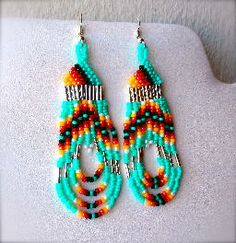 indian beaded earrings - Google Search