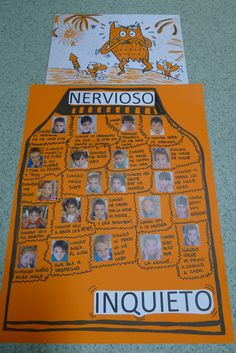 NARANJA - NERVIOSO ¿Cuándo te pones nervioso? ¿Que te hace sentirte inquieto? Calm Down Center, Teaching Emotions, Gestalt Therapy, Behavior Interventions, Les Sentiments, Your Teacher, Social Skills, School Projects, Mindfulness
