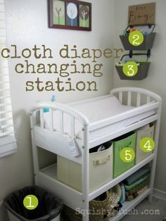 cloth diaper changing station. I really want to do cloth diapers and its nice to have an idea of how to set it all up