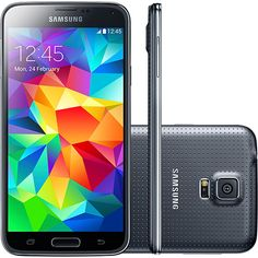 Smartphone Dual Chip Samsung Galaxy S5 Duos SM - G900M Desbloqueado Android 4.4 4G 16MB Memória 16GB GPS NFC Preto ( 120152615 ) Comparativo de preços: Tecnoshop.ofertou.com