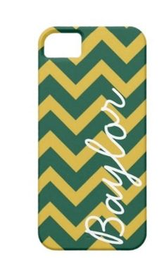 Green and Yellow Baylor Chevron Phone Case. $23.99, via Etsy.