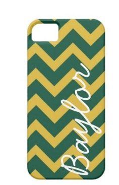 Green and Yellow Baylor Chevron Phone Case. $23.99, via Etsy.