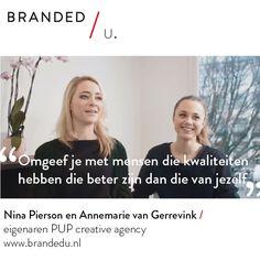 Nina Pierson en Annemarie van Gerrevink / eigenaren PUP creative agency