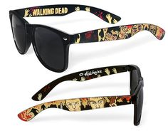 Sunglasses - The Walking Dead Wayfarer sunglasses zombie comic unique hand painted blood splatter Daryl Marle Dixon brothers.  #Halloween #zombieapocalypse