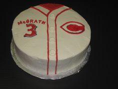 Cincinnati Reds baseball shirt cake http://www.facebook.com/sweetsoutherndelightscustomconfections