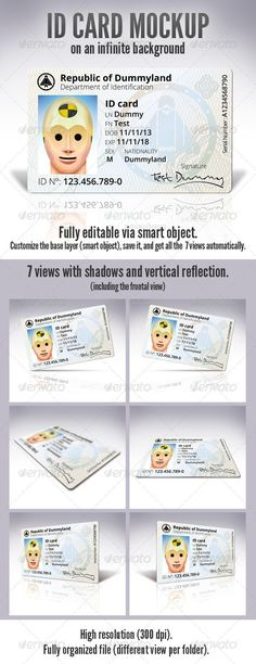 ID Card Download here: https://graphicriver.net/item/id-card/3488255?ref=KlitVogli