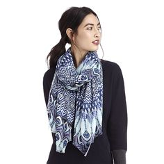 """Sole Society """"peacock print scarf"""", $24.95  Since I saw this in my Sole Society email I have been drooling. I need it."""