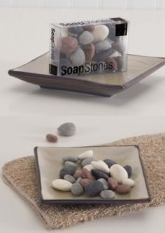 SoapStones bathroom soap smooth stones
