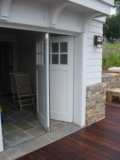 bi-folding garage door
