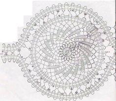 Solo esquemas y diseños de crochet: centros de mesas