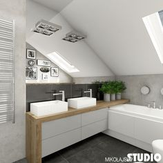 Four Attic Renovation Ideas to Give New Life to Unused Space - Attic Basement Ideas Laundry Room Bathroom, Attic Bathroom, Small Bathroom, Modern Bathroom Design, Contemporary Bathrooms, Bathroom Interior Design, Bad Inspiration, Bathroom Inspiration, Loft House